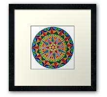 Rainbow Burst Framed Print