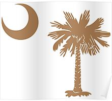 Brown Palmetto Moon Poster