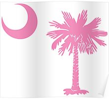 Pink Palmetto Moon Poster