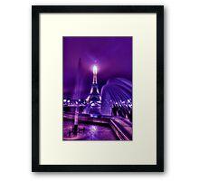 La Ville-Lumière Framed Print