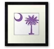 Purple Palmetto Moon Framed Print