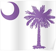 Purple Palmetto Moon Poster
