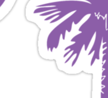 Purple Palmetto Moon Sticker