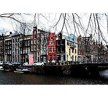 A colourful Amsterdam streetcorner Photographic Print