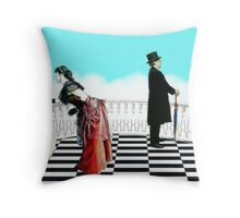 The Reunited Lovers Throw Pillow
