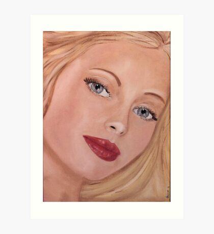 Blue eyed Girl Art Print