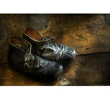Worn out shoes Photographic Print