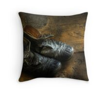 Worn out shoes Throw Pillow