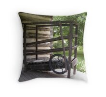 Antique Treadmill Throw Pillow