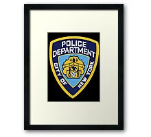 NYPD Badge (Also from Brooklyn 99) Framed Print