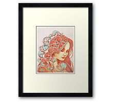 Filigree Face Framed Print