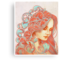 Filigree Face Canvas Print