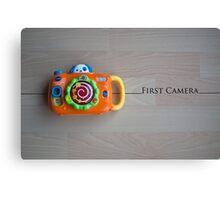 My First Camera Canvas Print
