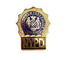 NYPD Detective Badge Photographic Print
