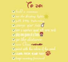 To Do List - Disney Style Kids Clothes