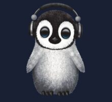 Cute Baby Penguin Dj Wearing Headphones One Piece - Long Sleeve