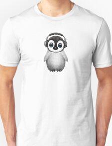 Cute Baby Penguin Dj Wearing Headphones T-Shirt