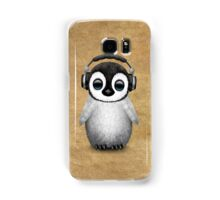 Cute Baby Penguin Dj Wearing Headphones Samsung Galaxy Case/Skin