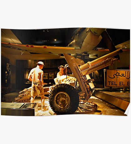 Men of War - War Memorial - Canberra Poster