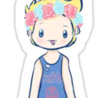 Flower Crown Luke Sticker