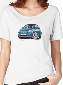 New Fiat 500 Jive Blue Women's Relaxed Fit T-Shirt