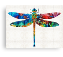 Colorful Dragonfly Art By Sharon Cummings Canvas Print