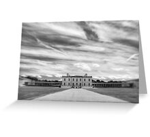 Greenwich - Queen's House BW Greeting Card