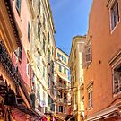 Busy Corfu Alley by Tom Gomez