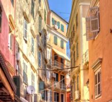 Busy Corfu Alley Sticker