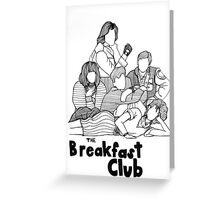 The Breakfast Club Line Drawing Greeting Card