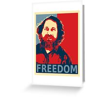 Richard Stallman Greeting Card
