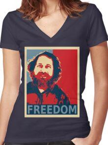 Richard Stallman Women's Fitted V-Neck T-Shirt