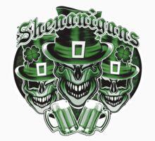 Laughing Leprechaun Skulls: Shenanigans 2 Baby Tee