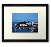 Tenby Harbour.Wales. Framed Print