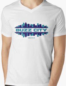 BUZZ CITY  Mens V-Neck T-Shirt