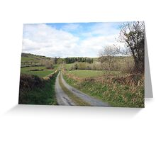 Scenic Irish country road Greeting Card