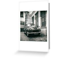 rue des gravilliers, paris Greeting Card