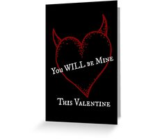 Red Devil Valentine Greeting Card