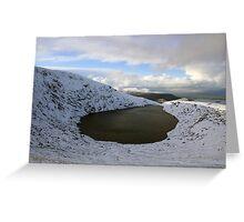 Mangerton corrie lake Greeting Card