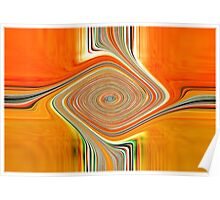 Orange and Lemon Abstract. Poster