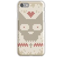 Knitted Pattern with cats Skull iPhone Case/Skin