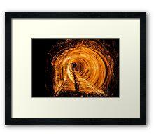 Walk of flames  Framed Print