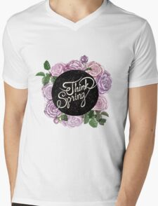 Think spring Mens V-Neck T-Shirt
