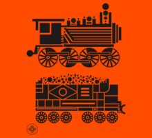 steam engine Kids Tee