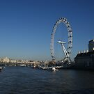 London Eye from Westminster Bridge by Allen Lucas