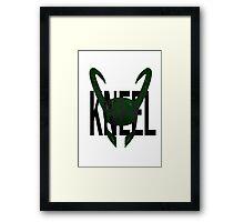 "Loki ""Kneel"" Framed Print"