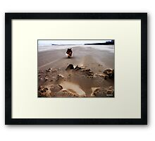 High winds on New Brighton Beach  Framed Print