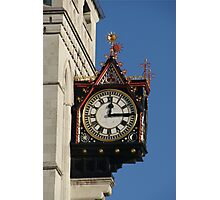 Clock at the Royal Courts of Justice Photographic Print