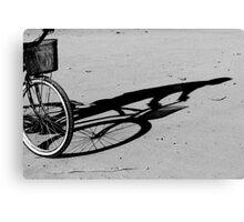 ST0003. Bike, Shadow. www.tgsdarkroom.com Canvas Print