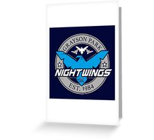 Grayson Park Nightwings Grey Blue (02 of 04) Greeting Card